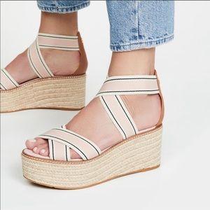 NEW Tory Burch frieda espadrille platform sandal